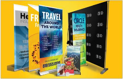 Banners with stand - Indoor, outdoor, tabletop and floor