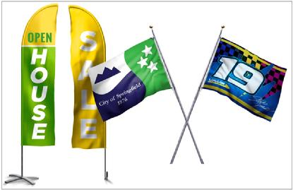 Feather Flags and Pole Flags