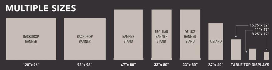 Retractable banners - available sizes